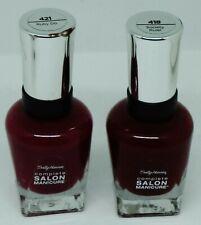 2 Shade Sally Hansen Complete Salon Manicure Nail Polish RUBY DO, SOCIETY RULER
