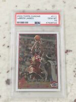 2003-04 Topps Chrome #111 Lebron James  Lakers Cavs ROOKIE RC PSA 10 NONE HIGHER