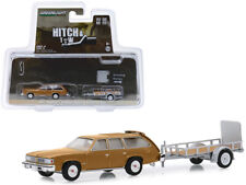 "1977 Pontiac LeMans Safari Gold and Utility Trailer ""Hitch & Tow"" Series 18 1/64"