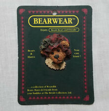 "BOYDS BEAR BEARWARE PIN ""BAILEY'S BONNET"""