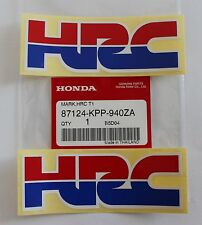 2 x HONDA - HRC (Honda Racing Corporation) DECAL STICKER BADGE 100% GENUINE