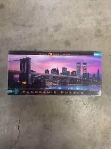 TWIN TOWERS BROOKLYN BRIDGE 750 PC Panoramic Jigsaw Puzzle NEW SEALED NEW YORK