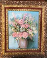 Beautifully Framed Early 20th Cent. Floral Still Life by G. Finnell or Grinnell