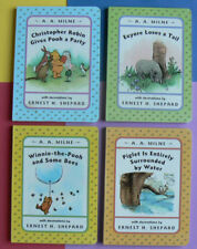 4 Winnie the Pooh Board Books,A.A.Milne&Ernest H.Shepard,Party,Eeyore,Picnic,Bee