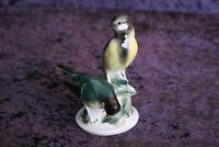 Meisen WA Wagner & Apel Porzellan Figur Vögel Vogel Gruppe Porzellanfigur 14cm h