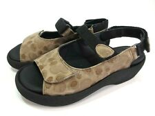 WOLKY Tulip Jewel Komfort Leder Schuhe Sandalen braun Klett Gr. 38 NEU Einlagen