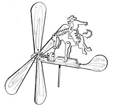 Rodeo Champ Whirligig #609 - Woodworking / Craft Pattern. Same Size Drawing.