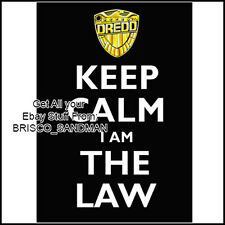 "Fridge Fun Refrigerator Magnet JUDGE DREDD ""Keep Calm I Am The Law"" (Carry On)"
