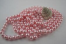 Extra Largo Collar de perlas Art Deco Estilo Anudado 168 - 170cm ROSA NÁCAR