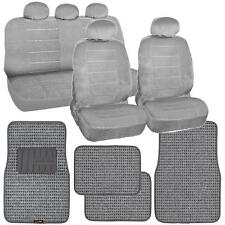 Gray Car Seat Covers New Vintage & Thick Auto Floor Mats Woven Original