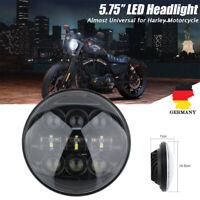 """5-3/4"""" 5.75"""" Zoll LED Projektion Hi/Lo Haupt Scheinwerfer für Harley Davidson"""