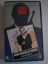 CASSETTE-K7-VHS-AUDIO-VIDEO-VINTAGE-COLLECTOR- JAMES BOND . BON BAISERS . RARE .