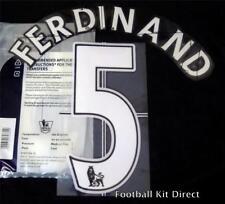 Manchester United Ferdinand 5 Premier League Football Shirt Name Set LEXTRA Home