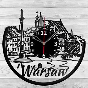 Vinyl Clock Warsaw Vinyl Record Wall Clock Home Art Decor Handmade 5984