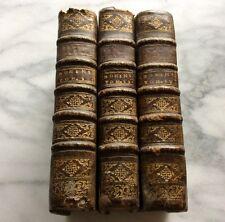 1716 E.O SERMONS BOURDALOUE COMPAGNIE JESUS RELIGION LYON BIBLE 3VOL LIVRE BOOK