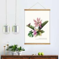 """wall26 Hanging Poster Framed Beautiful Birds Flowers Canvas Print-18""""x24"""" inches"""