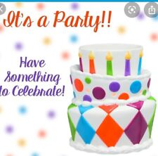 "Scentsy ""It's A Party"" Premium Scentsy Warmer Happy Birthday Cake Candles~ NEW"