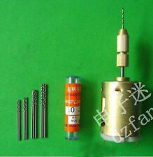 12V Smaill PCB Drill Press Drilling with 10pcs Drills 0.7/0.8/1.0/1.2/1.4 mm