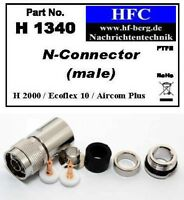 1 Stück N-Stecker für Ecoflex 10 / Aircom / H 2000 Flex® - 50 Ω (H1340)