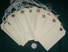 PlaiN HanG Tag BlaNk Manila ShippIng  String 100  Sz  #5 4¾ x 2-3/8 STPC