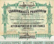 RUSSIA PROKHOROW COAL COMPANY stock certificate 1895
