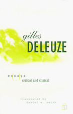 Essays Critical And Clinical by Gilles Deleuze (Paperback / softback)