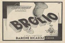 Z1235 BROLIO Casa Vinicola Barone Ricasoli - Pubblicità d'epoca - 1932 Old ad