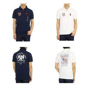 Polo Ralph Lauren Custom Slim Fit Short Sleeve Polo Shirt w/ USA flag - 2 type