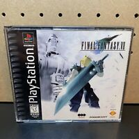 Final Fantasy 7 VII PS1 Playstation 1 - Complete Black & Green Case-Tested-READ!