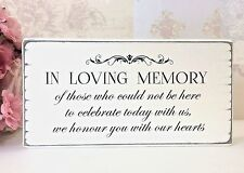 Remembrance Sign In Loving Memory Vintage Wedding Sign Free Standing