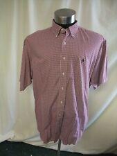 Mens Shirt POLO by Ralph Lauren model Blake, XL burgundy red check cotton 7381
