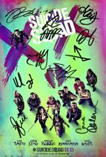 SUICIDE SQUAD POSTER Signed Autograph Photo Top Quality Reproduction Print