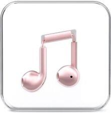 Auriculares Oro Rosa para iPhone Android Tapones Para Los Oídos Auriculares Manos Libres Micrófono