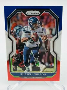 2020 Panini Prizm Russell Wilson RED WHITE BLUE Card #294 - Seahawks