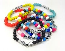 Girl or Boy Personalised Wooden Surfer Bracelet Name  Choice Of Colour Birthday