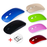 2.4GHz Slim Wireless Optical Mouse/Mice +USB 2.0 Receiver For PC Laptop Computer