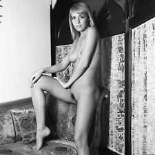 ost036 beautiful nude girl original black and white medium format film negative