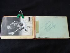 Autograph's Booklet Over 70 ! Montreal Canadiens + TV Actors from 1950's - WOW !