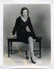Sally Blane Vintage Foot Light Fashion Shoe Original 1920's Photo with snipe