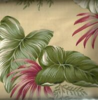 Tropical Paradise yellow floral fabric