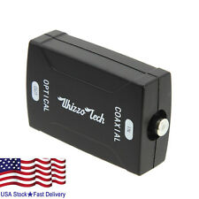 COAX Coaxial to TOSlink Optical Digital Audio Converter 24bit/192K HD sampling