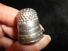 COLLECTABLE PEWTER THIMBLE LOVELY REPLICA OF ORIGINAL VICTORIA & ALBERT 1840