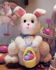 ADORABLE Easter Bunny with Basket of Eggs/Toy/ Crochet Pattern INSTRUCTIONS ONLY