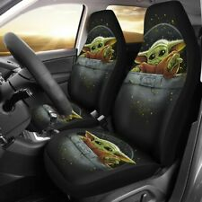 Mandalorian Yoda Universal Fit Car Seat Covers Pickup Truck Cushion Protector