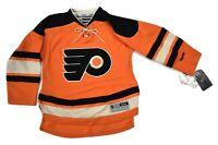 Reebok NHL Youth Philadelphia Flyers Blank Premier Hockey Jersey NWT L/XL