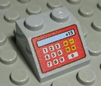 Lego Stein 2x2 positiv Weiss bedruckt mit Kasse 1309 #