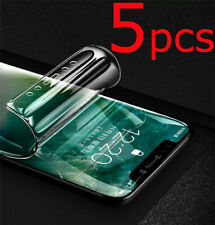5 Screen Protector 100% Full Cover Silicon Soft Hydrogel Coverage Invisible Edge
