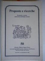proposte e ricerche economia società nella storia dell'italia centrale 50 marche