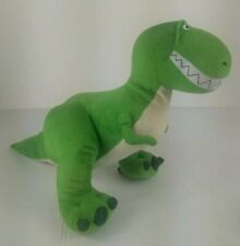 "Toy Story Rex Plush Green Dinosaur Disney Collection 11"" Tall Pixar EUC"