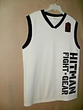 FREE SHIPPING NWOT MEN Hitman Fight Gear Sleeveless V - Neck T Shirt Size Large